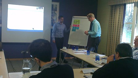 BIM workshop with flip chart
